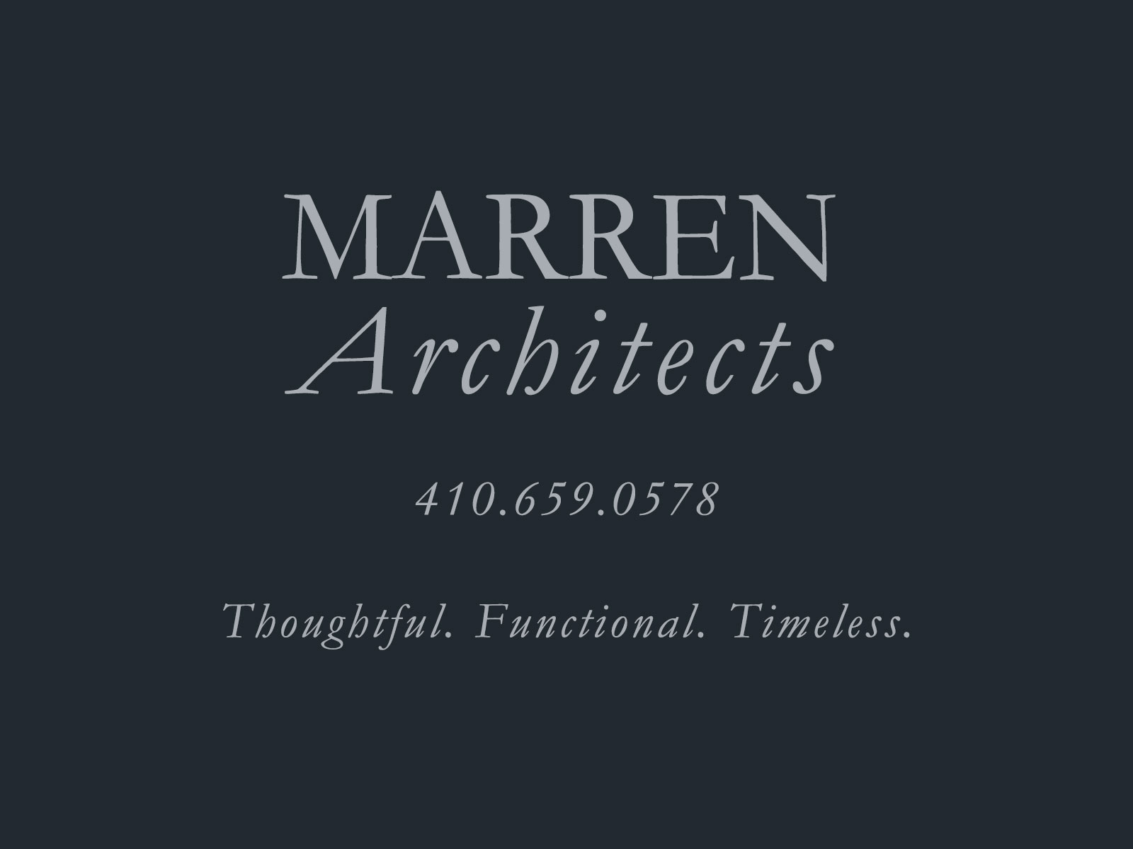Welcome To Marren Architects